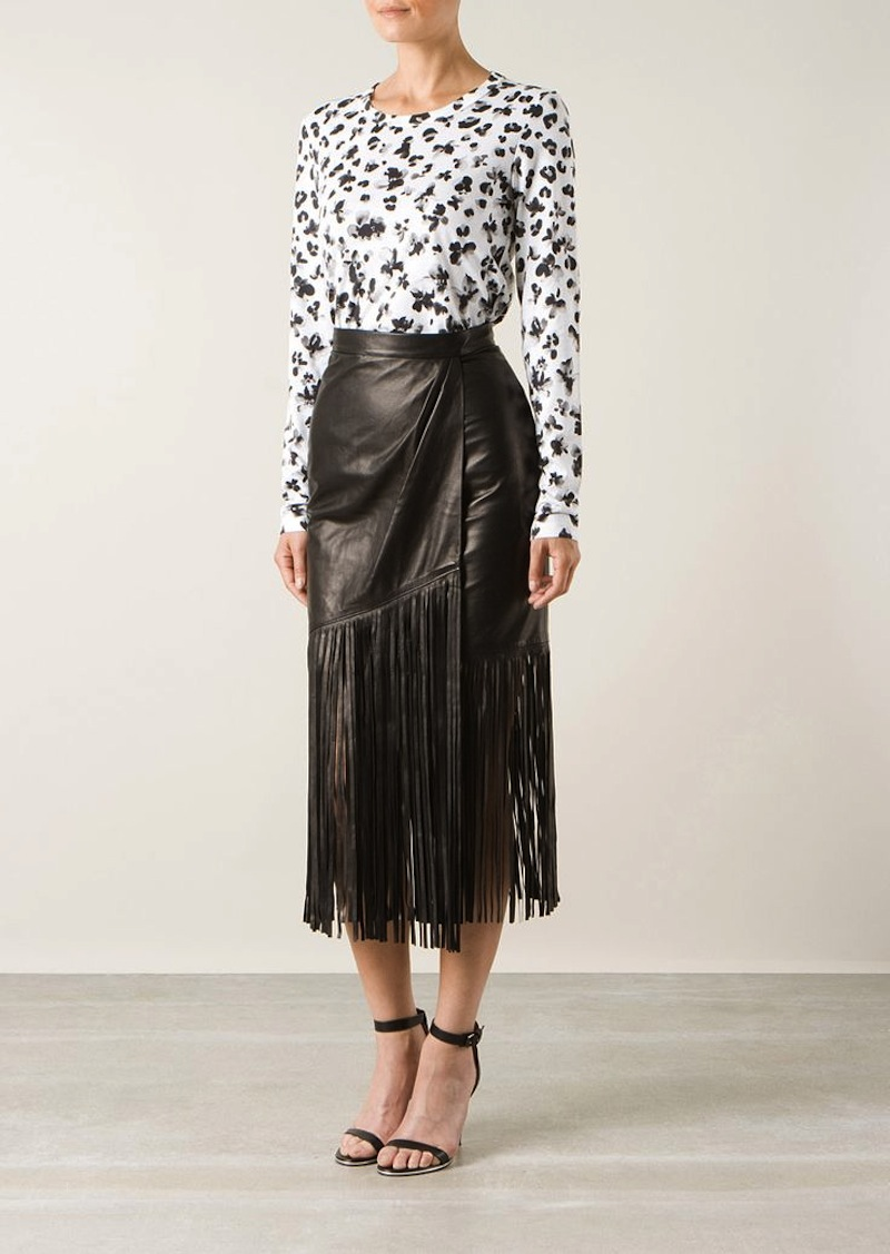 fringe leather skirt tamara mellon 3