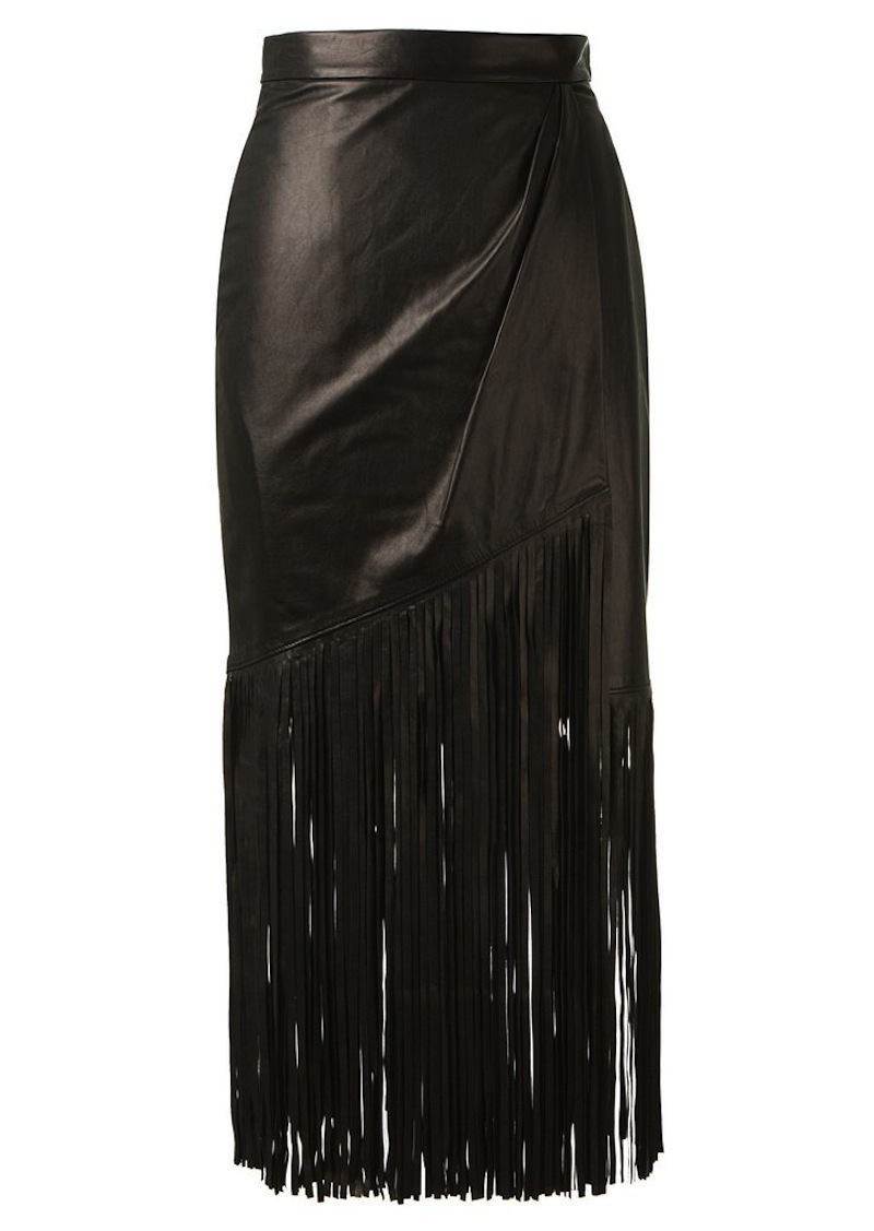 fringe leather skirt tamara mellon 5