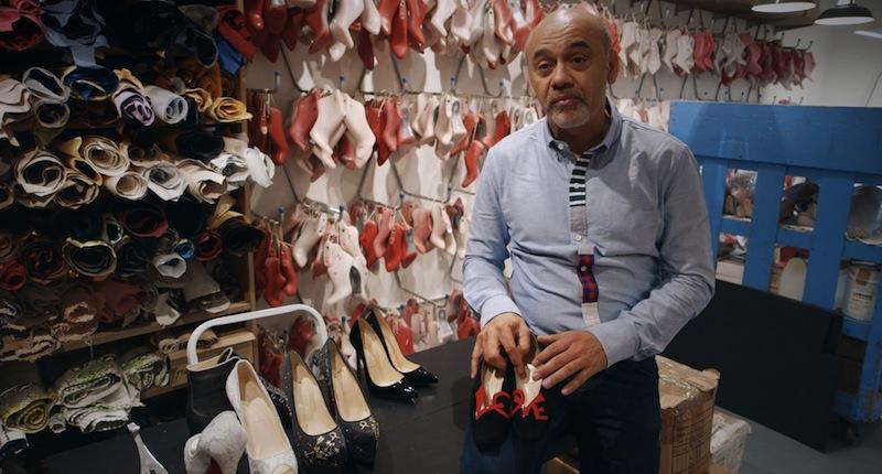 Christian holding Love shoes - Princess Diana