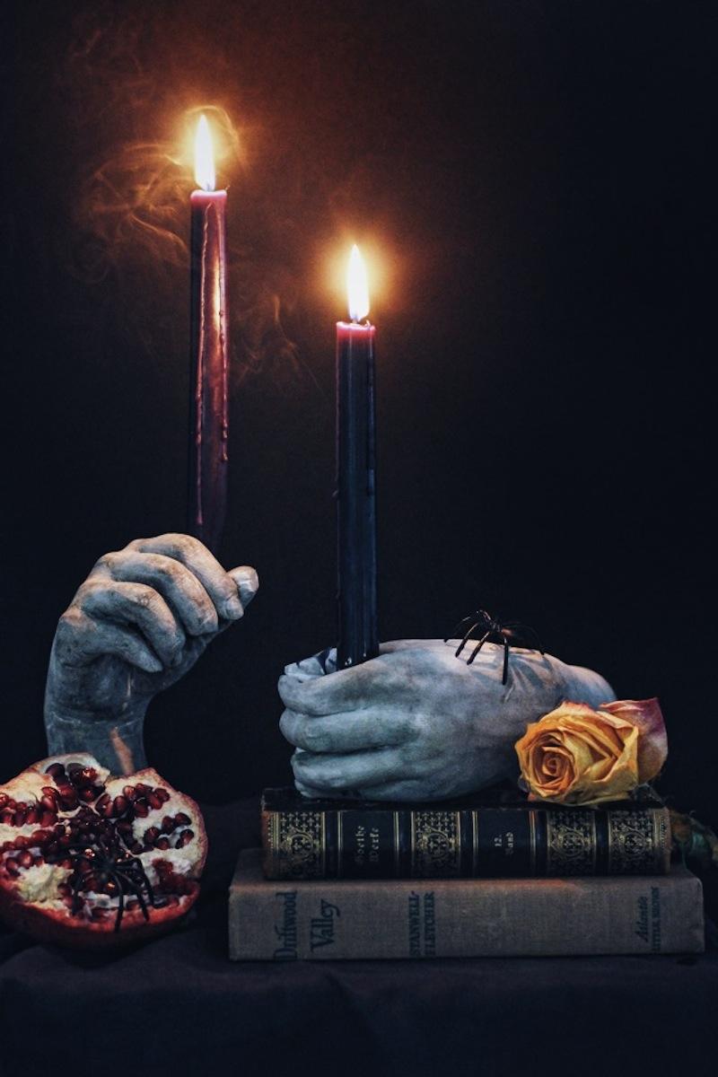 diy plaster hand candlesticks3 by honestlywtf