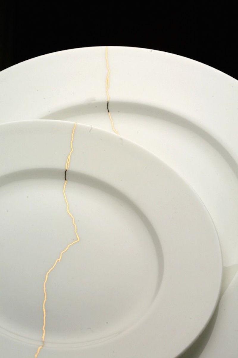 kintsugi plates