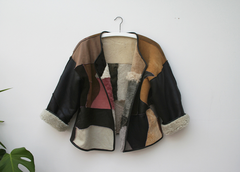 Milena Silvano fur shearing coat jacket 14