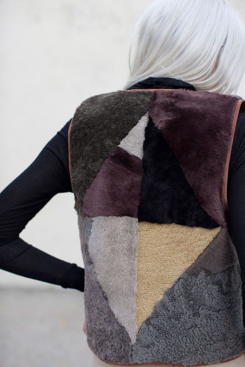Milena Silvano fur shearing coat jacket 2