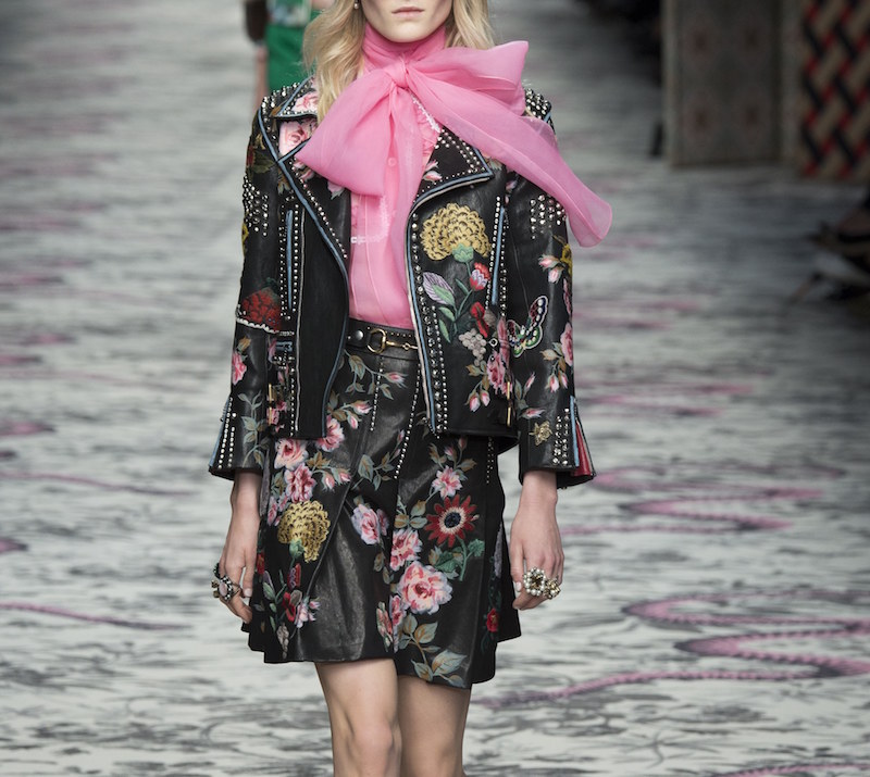 Gucci Hand-Painted Leather Biker Jacket 8