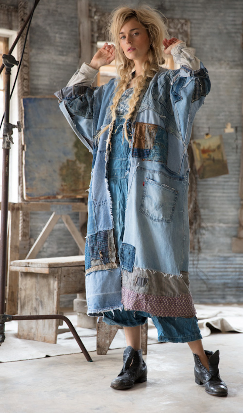 patchwork denim jacket diy idea inspiration recycle upcycle