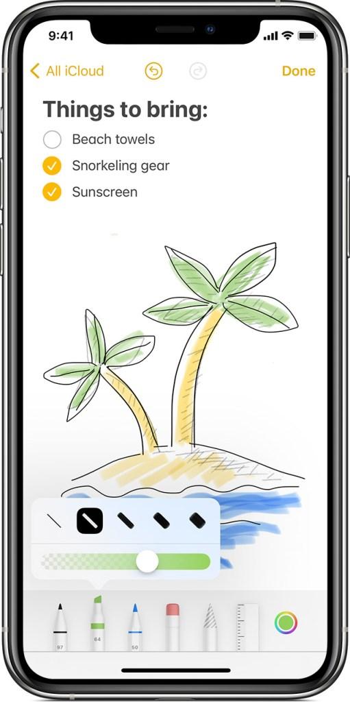Screenshot Apple Notes