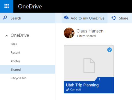 Onedrive collaboratif