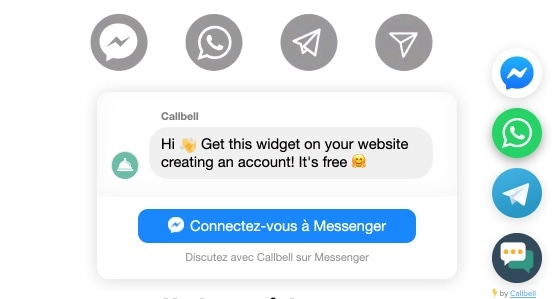 widget dialoguer avec visiteurs