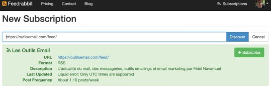 flux rss par mail