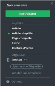 Evernote WebClipper dans un système de veille