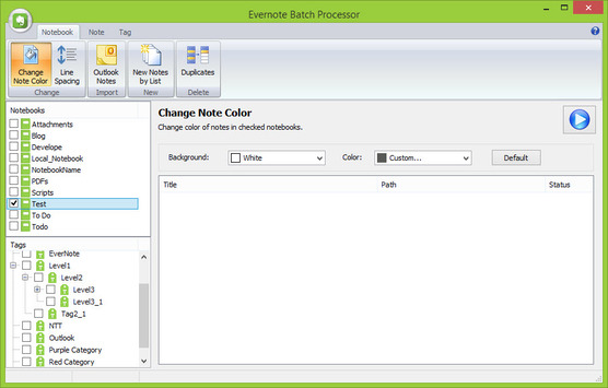 Evernote Batch Processor