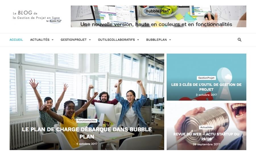 Bubble Plan Gestion projets visuel