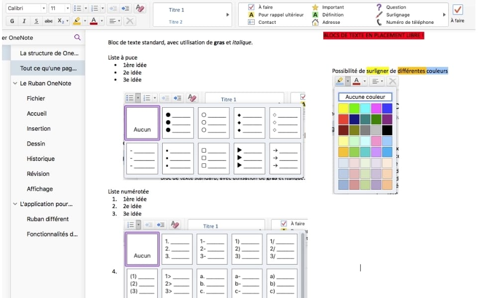 onenote evernote editeur notes