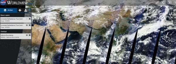 NASA Worldview. Des images satellite de la terre en temps ...