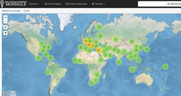 Bibliotheque interactive Carte interactive