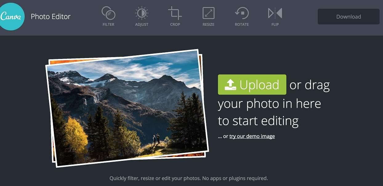 canva photo editor  un studio photo en ligne pour toutes vos images