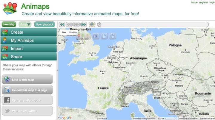Animaps. Créer des cartes géographiques animées