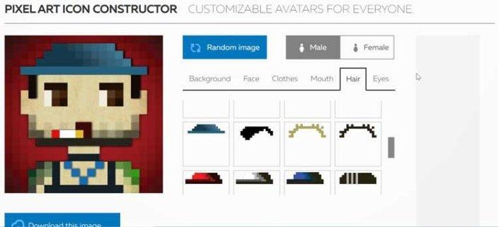Avatar en pixels