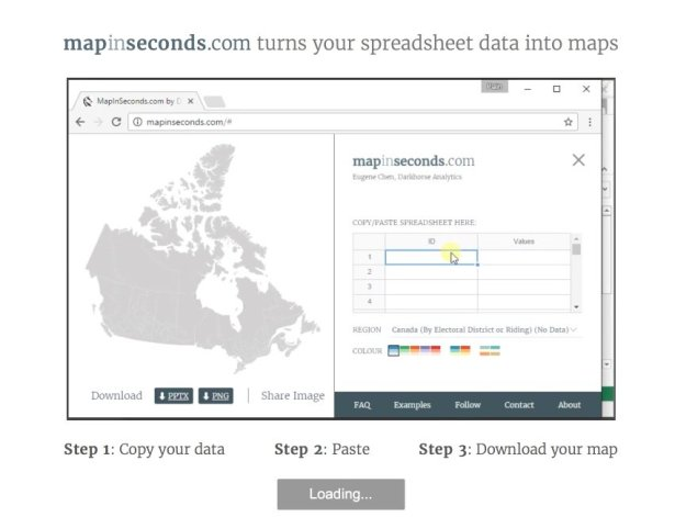 Maps in seconds