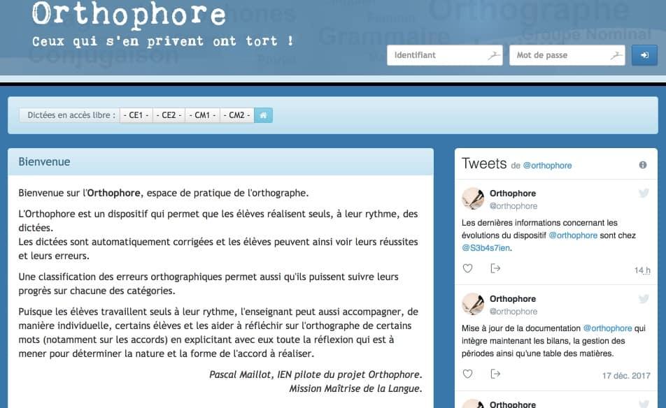 Orthophore. Travailler l'orthographe avec des dictées autonomes