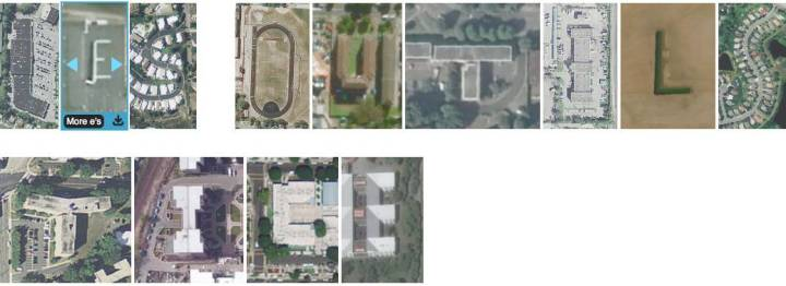 Typographie avec des images satellites
