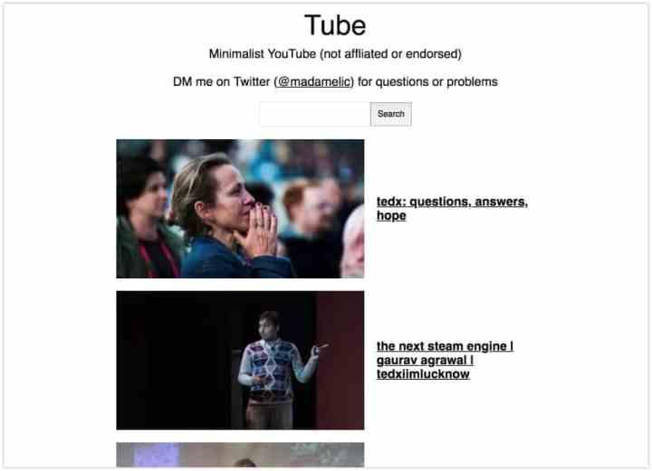 YouTube minimaliste