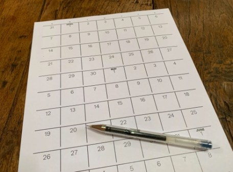 Créer un calendrier