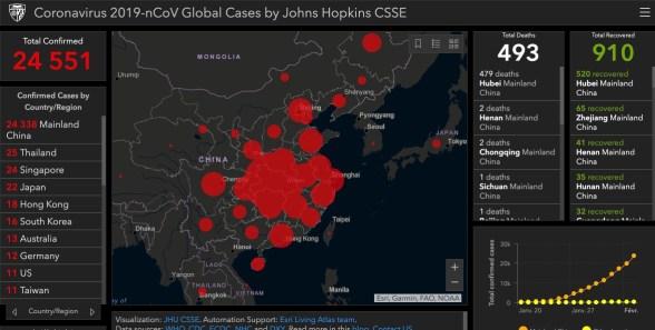 carte coronavirus