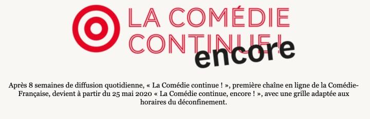 spectacles de la comédie française
