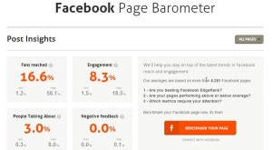 Facebook page monitor