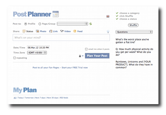 Post planner