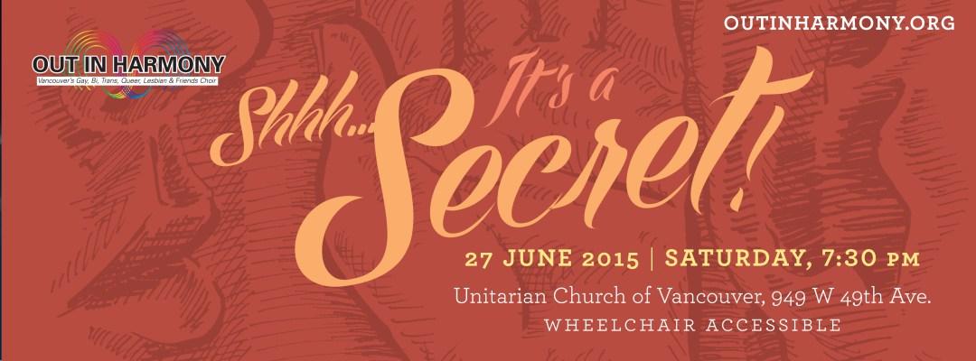 Shhh It's a Secret Concert Info