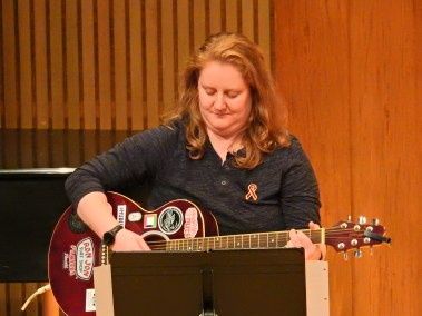 Lindsay - Playing Guitar