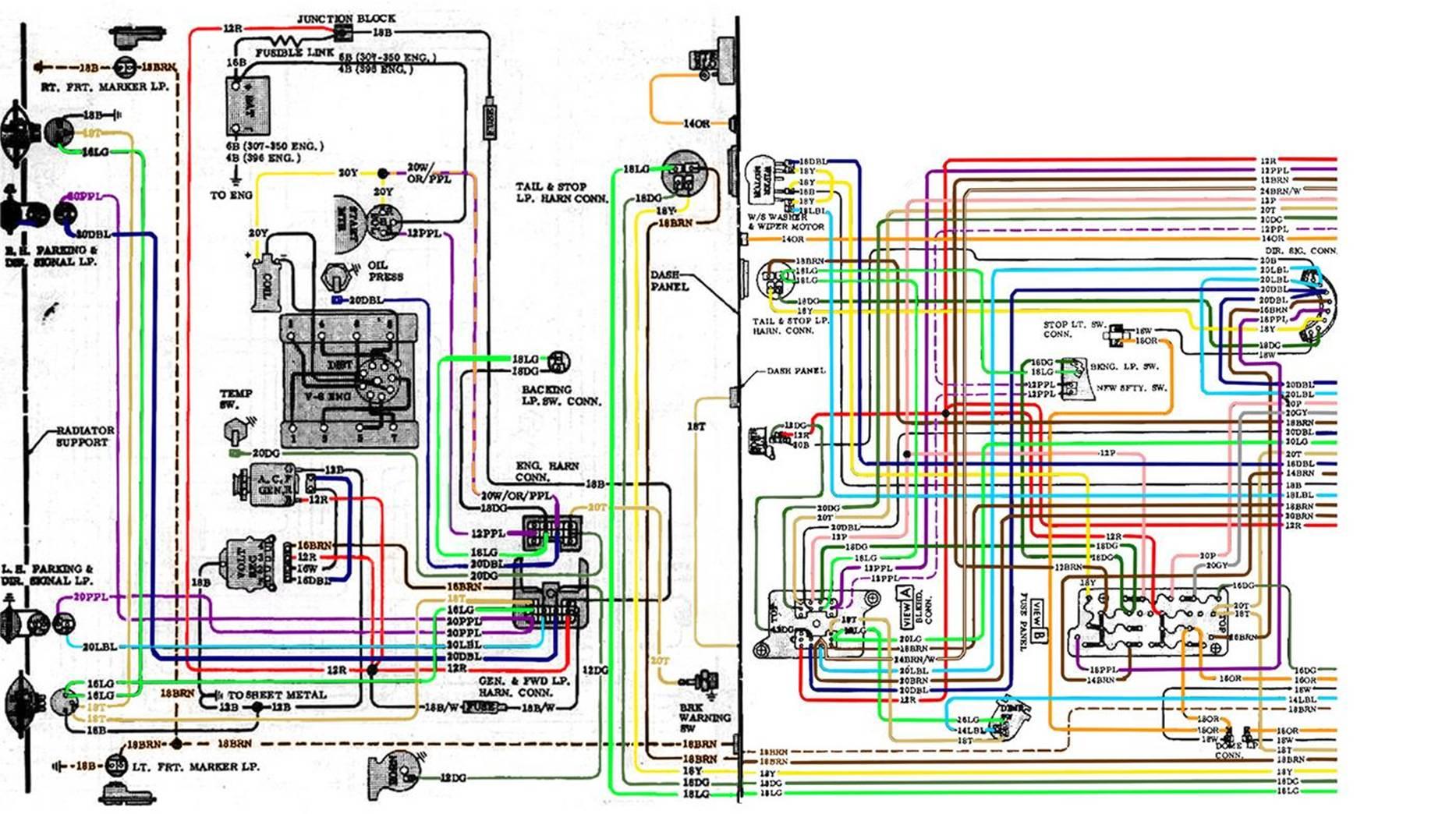 67-72 Chevy Wiring Diagram