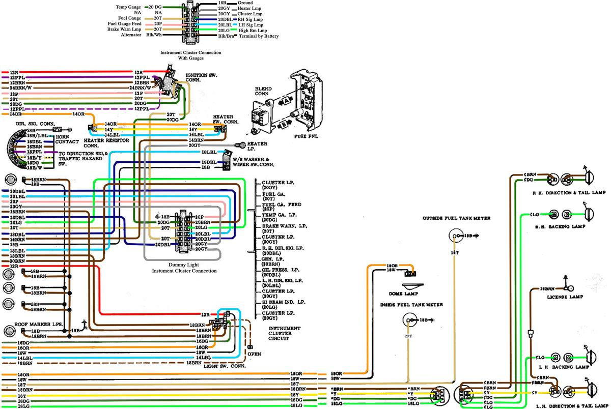 1972 chevy truck ignition switch wiring diagram 3 gang 2 way light uk 67 72