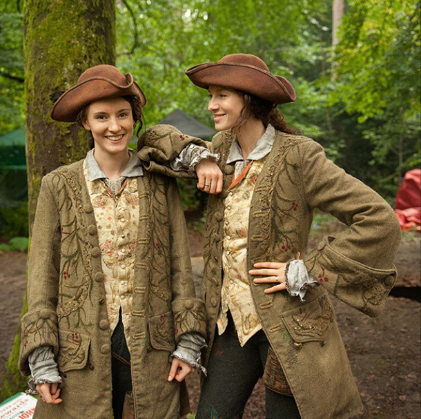 Are we seeing double? #Outlander #BehindTheScenes @caitrionabalfe
