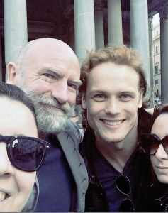 Sam and Graham with fans in Rome for Jibland, May 23, 2016.