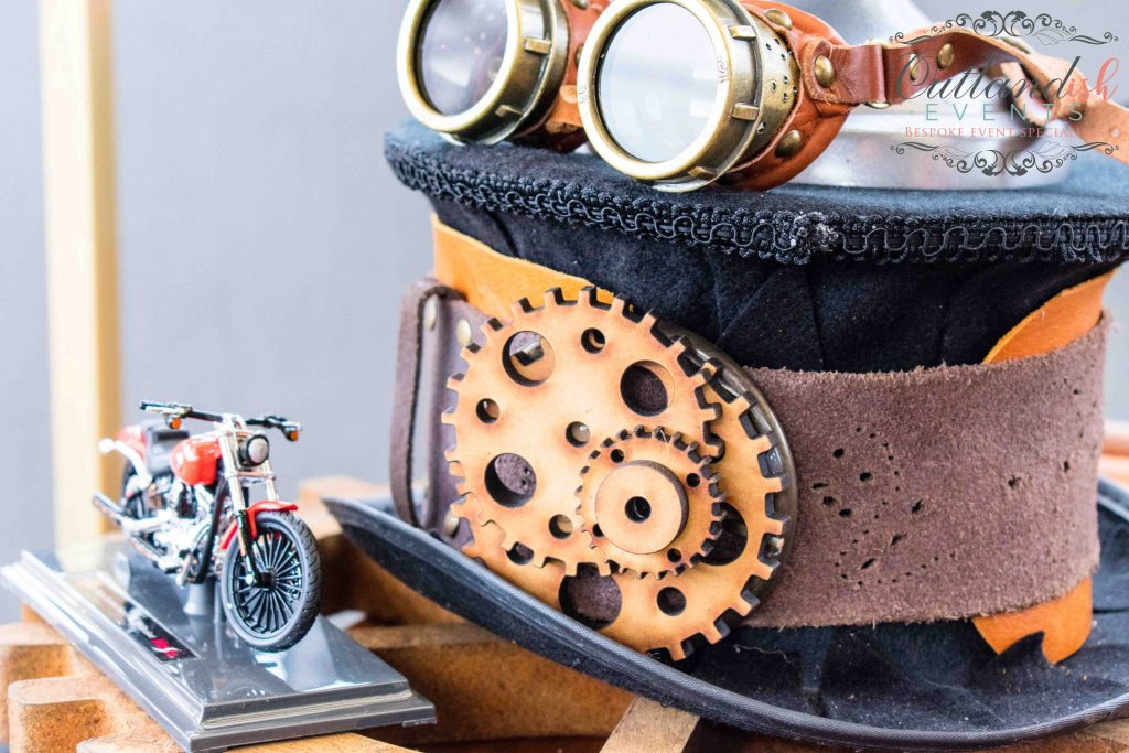Steampunk Harley Davidson inspired 40th Birthday Party