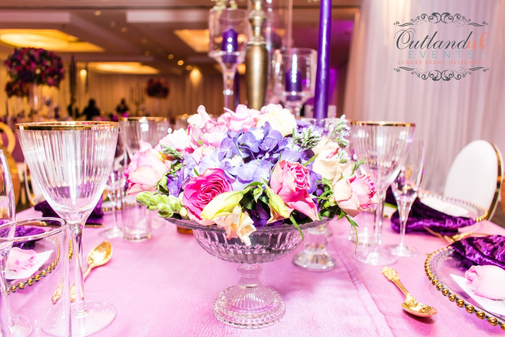 Luxe 40th Birthday Party | Purple, Pink & Gold