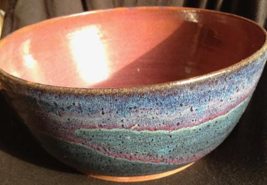 overlapped glazes on stoneware