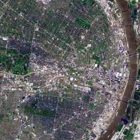 Satellite view, 15 km, St. Louis, Missouri, USA, Google Earth