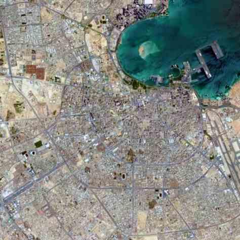 Satellite view, 15 km, Doha, Qatar, Google Earth
