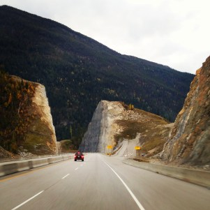 Rock cuts on 10 Mile Hill #rockymountains #BritishColumbia