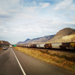 racing the #train in #Kamloops again #BritishColumbia