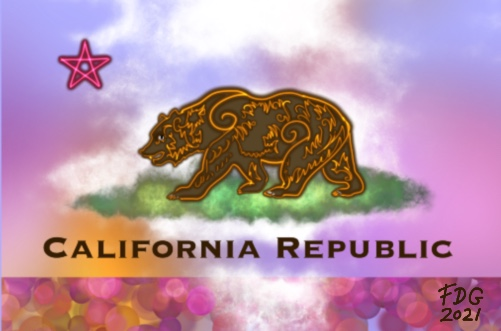 A mystical rendition of the California flag by Francesca De Grandis