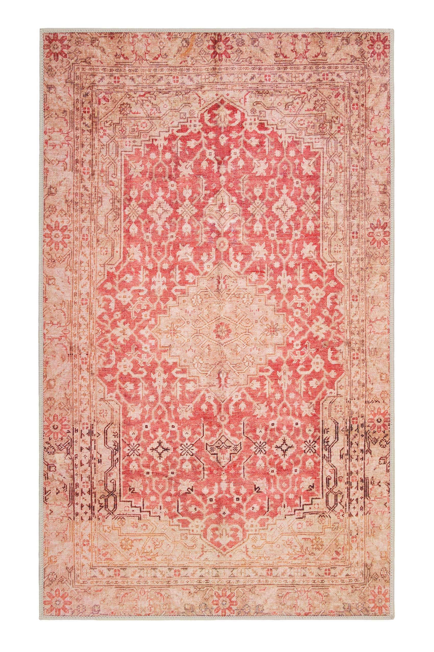 Badteppich Rot Badteppich Rot Vintage Oriental » Polaroid « Weconhome | Outlet Teppiche