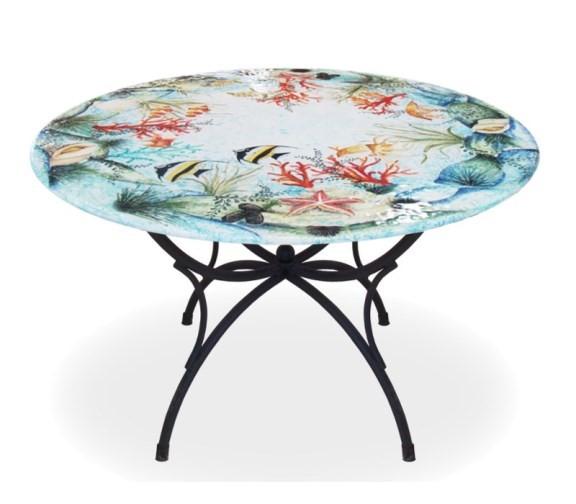Collezioni esclusive in tiratura limitata e numerata di tavoli in maiolica decorati a mano da maestri ceramisti di deruta. Tavoli Da Giardino In Pietra Lavica