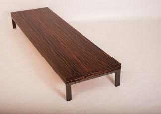 Tavolino Romeo di Emaf Progetti per Zanotta Ebano Opaco 50x180x22