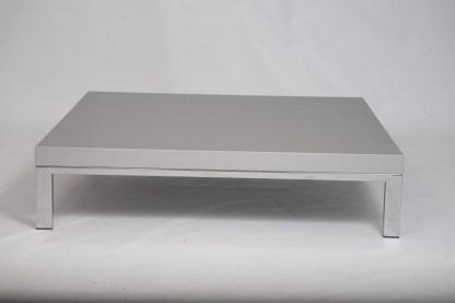Tavolino Romeo di Emaf Progetti per Zanotta Grigio Metallizzato 92x92x22