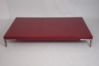 Tavolino Romeo di Emaf Progetti per Zanotta Rosso Lucido 92x154x22